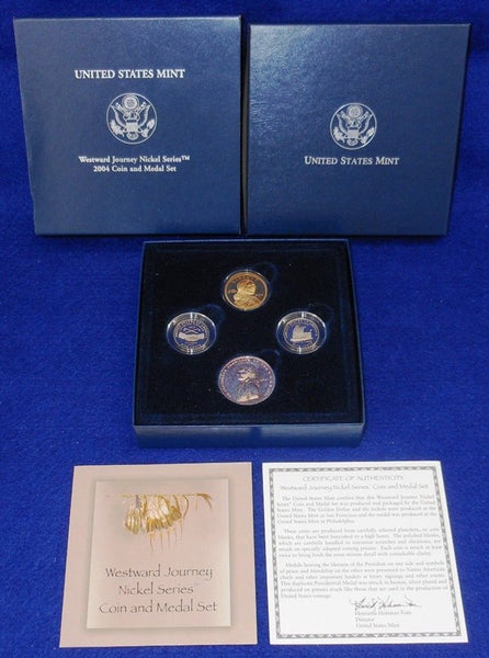 2004 Westward Journey Nickel Coin And Medal Set