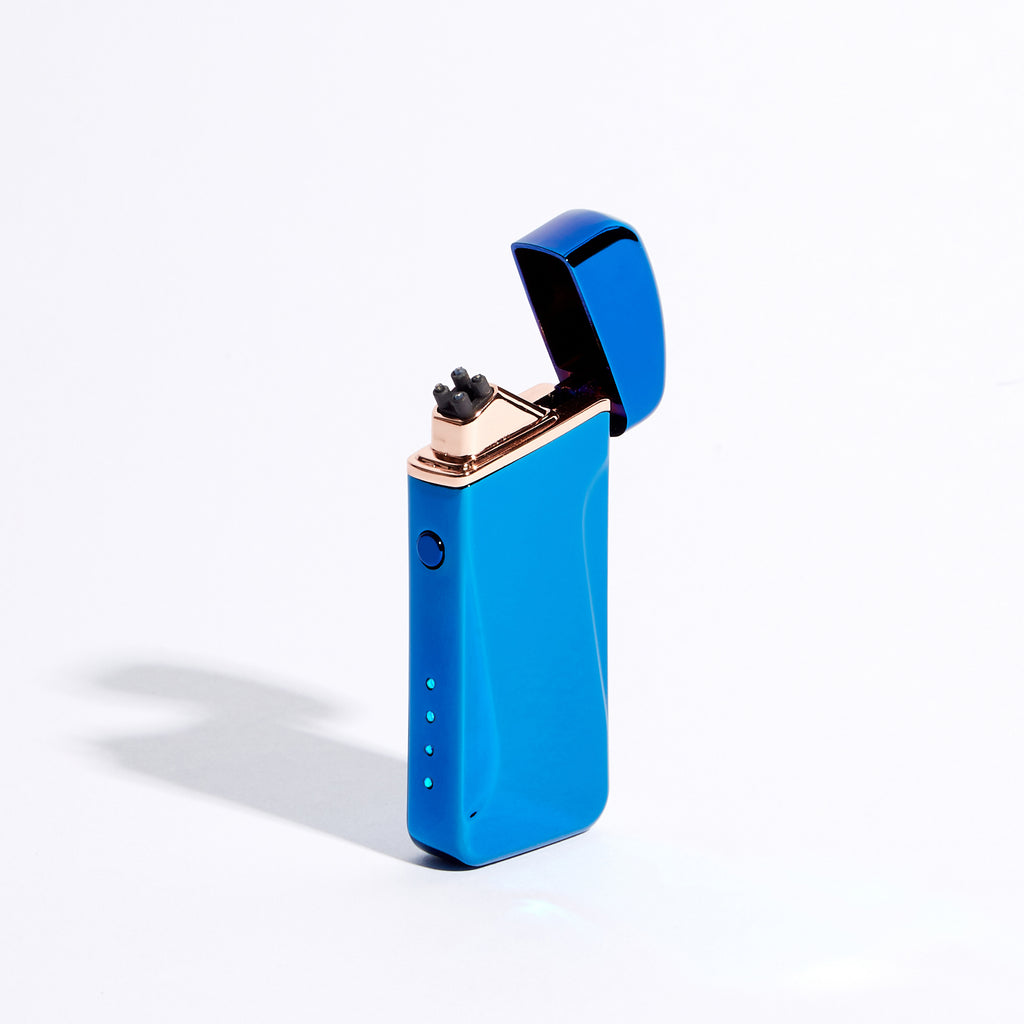 Blue - Wide Double Arc Lighter (Metallic)