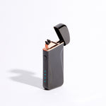 Black - Wide Double Arc Lighter (Metallic)