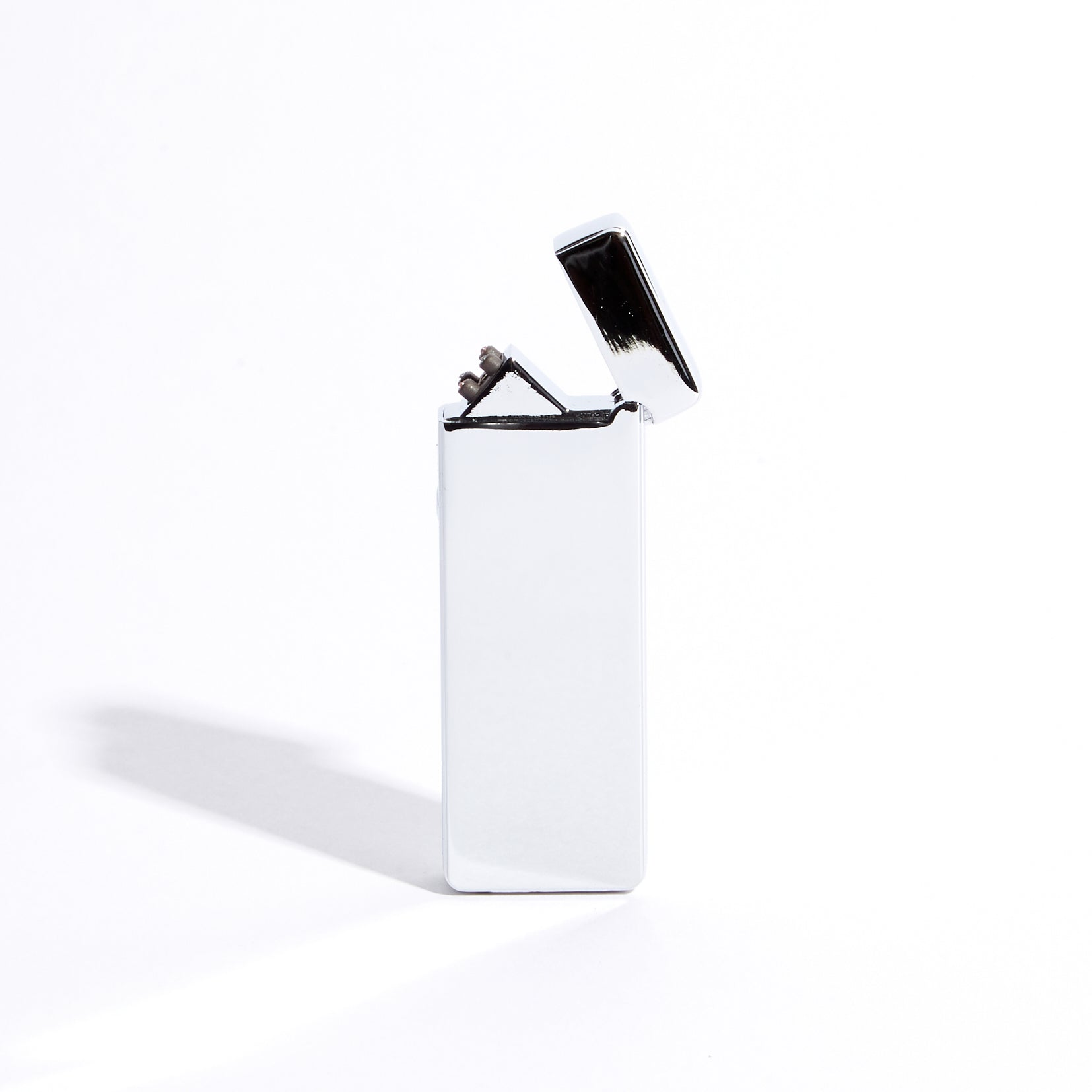 Silver - Slim Double Arc Lighter (Metallic)