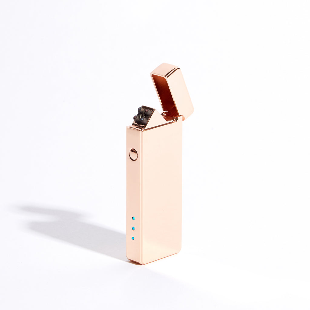 Rose Gold - Slim Double Arc Lighter (Metallic)