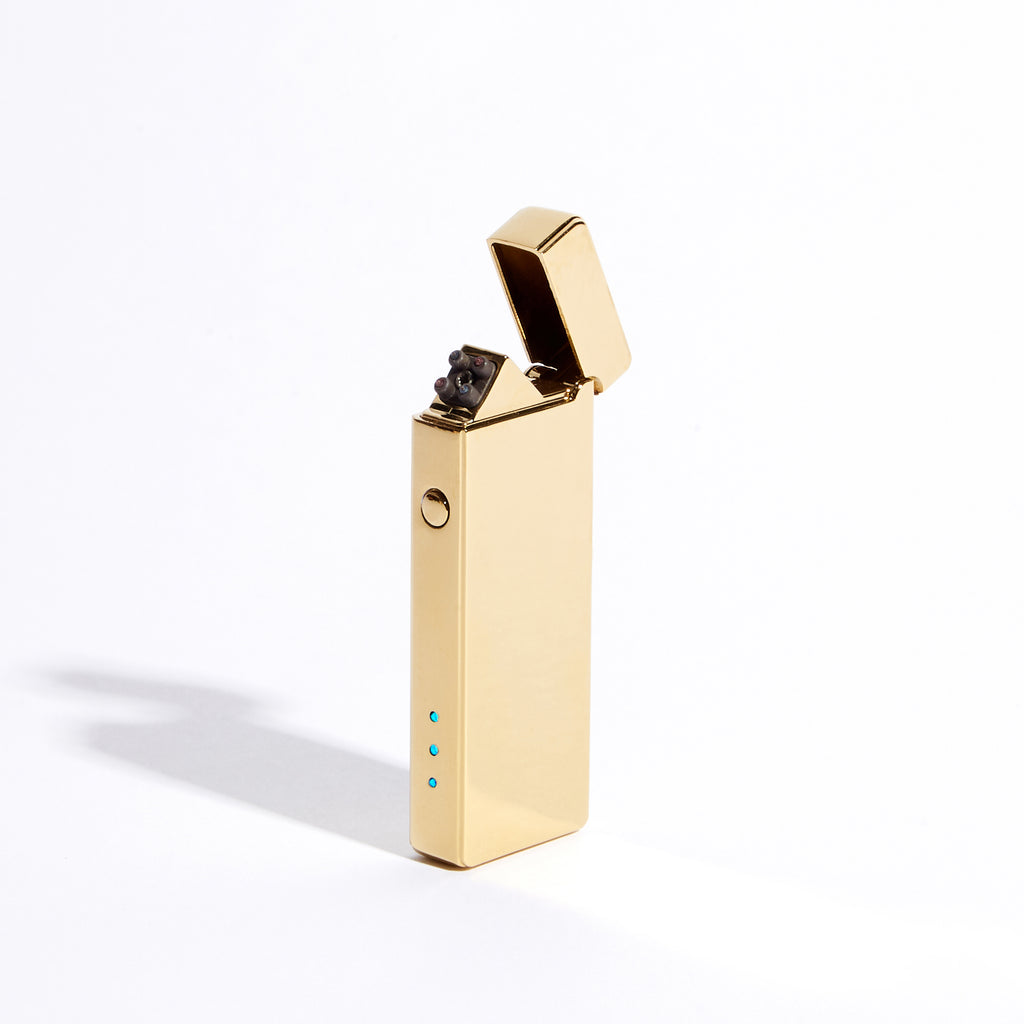 Gold - Slim Double Arc Lighter (Metallic)