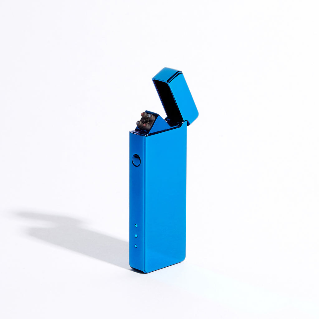 Blue - Slim Double Arc Lighter (Metallic)