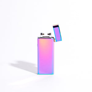 Purple - Slim Single Arc Lighter (Metallic)
