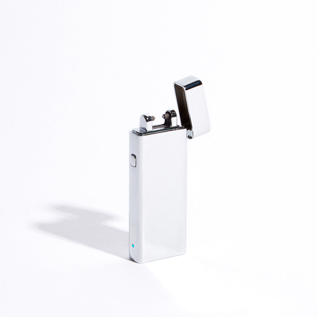 Silver - Slim Single Arc Lighter (Metallic)