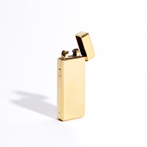 Gold - Slim Single Arc Lighter (Metallic)