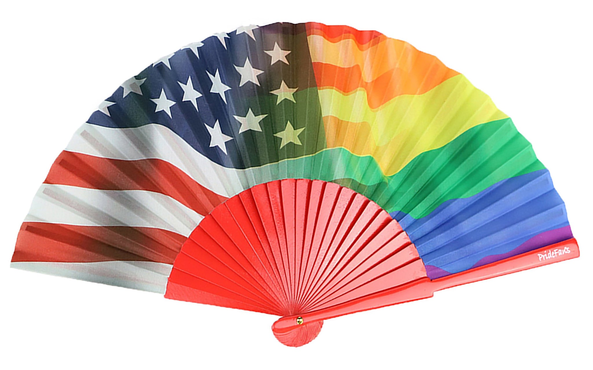 Pride Fans Rainbow Hand Fan. Pride Fan LGBTQ Flags folding gay fan.