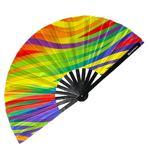 Pride Fans Clack Drag Queen Pride Fan Gay Pride Festival Fan Rave Folding Dance Women Party Gay Large Chinese Dance