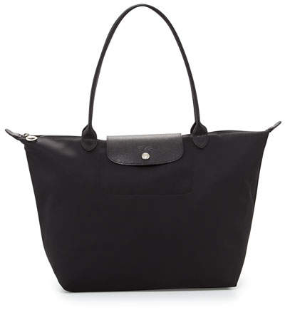 Longchamp Le Pliage Néo Large Nylon Shoulder Tote Bag, Black