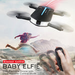 Gadget H37 Mini Drone with Camera. Quadcopter Selfie Drone with Beauty Mode, FPV Camera 720P, Foldable