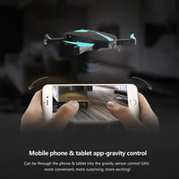 Gadget, Selfie Pocket Drone with HD camera. Quadcopter, Foldable, Aerial flight remote control