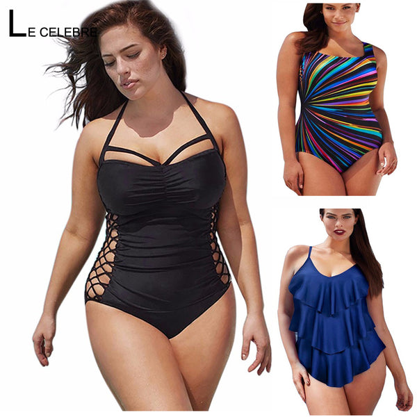 Swimming One Piece Sexy Swimsuit. Size L to 5XL