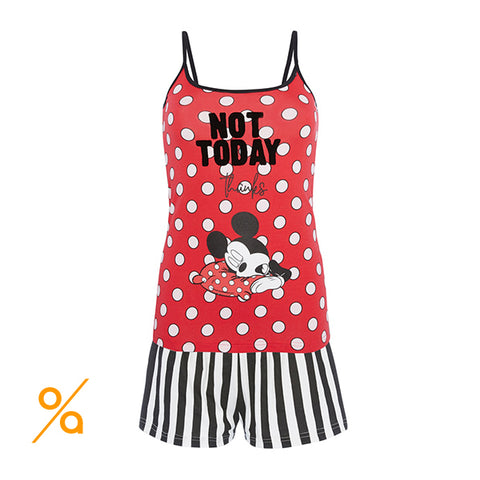 Mickey Mouse pajama set with straps top