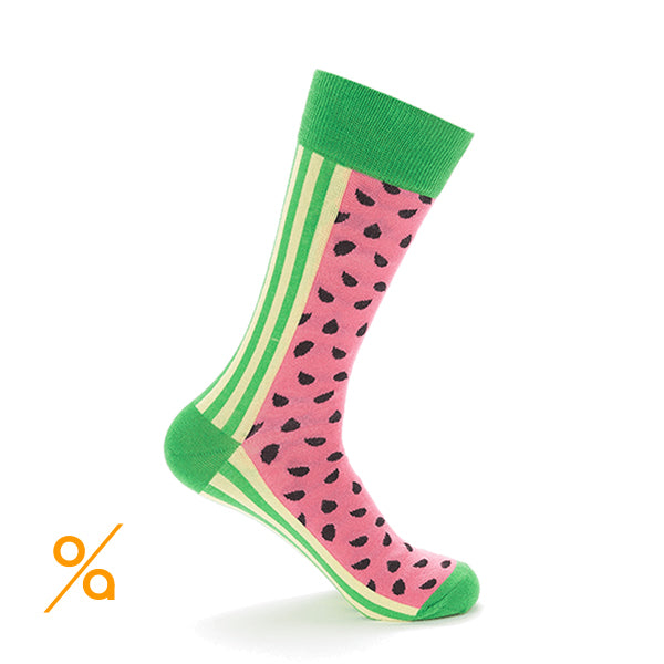 Unisex Watermelon Fruit Design Socks