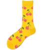 Pink Cherry Yellow Socks