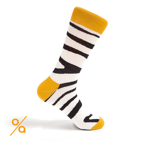 Black and White Zebra Stripes Socks
