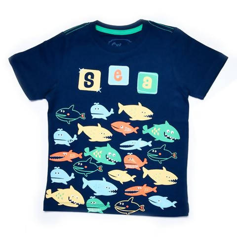 Sharks Design T-Shirt