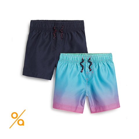 Beach Shorts For Boys (2 Packs)