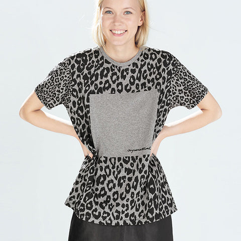 Tiger Round Neck Print T-Shirt
