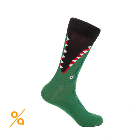 Stylish Crocodile Design Socks