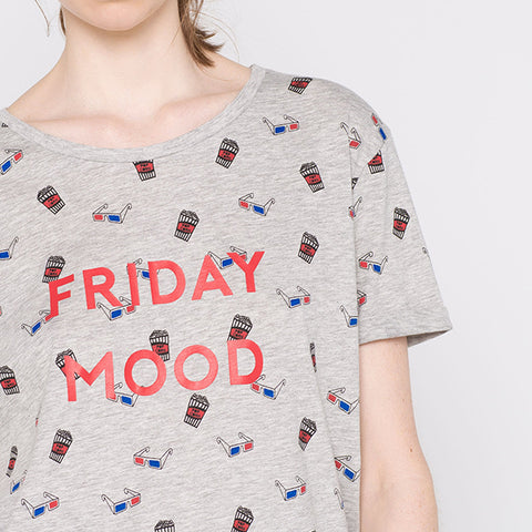 Friday Mood Grey T-Shirt