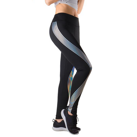 Black Reflective Glow Leggings