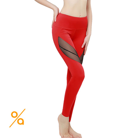 Eye Catching Red Mesh GYM Leggings