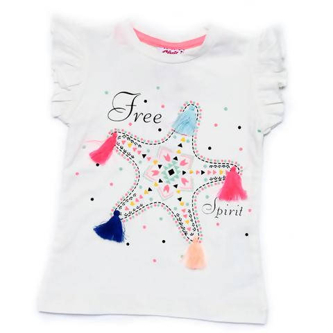 Star Design T-Shirt For Girls