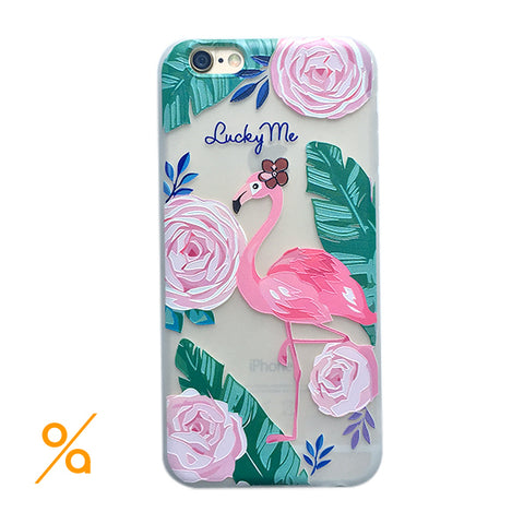 Flamingo Trendy Design iPhone case
