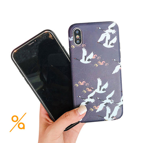 Eye-catching Birds Pattern iPhone Case