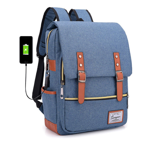 Trendy Strong Laptop Backpack with USB Port