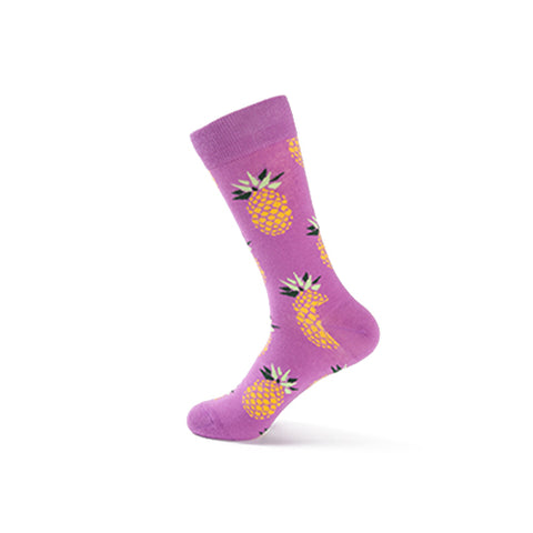 Purple Pineapple Socks