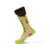 Light Green Fish Design Socks