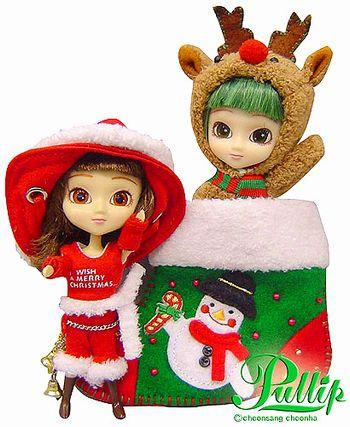 Groove Inc. Little Pullip+ F-811 Carol & Rudolph X'mas Special girl Fashion doll (Jun Planning)-DREAM Playhouse