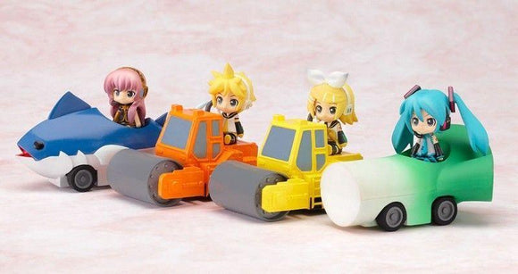 Freeing Nendoroid Plus Vocaloid character figure with Pull-back Cars