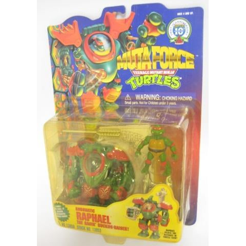 Playmates Tmnt 1996 Teenage Mutant Ninja Turtles Muta Force Robotation Raphael Action Figure