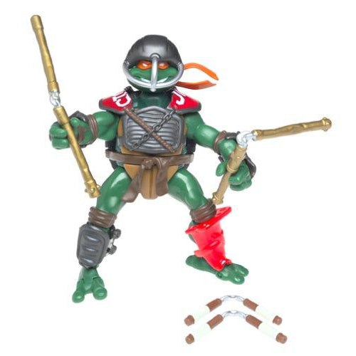 Playmates Tmnt 2003 Teenage Mutant Ninja Turtles Fightin Gear Mike Michelangelo Action Figure - Action Figure