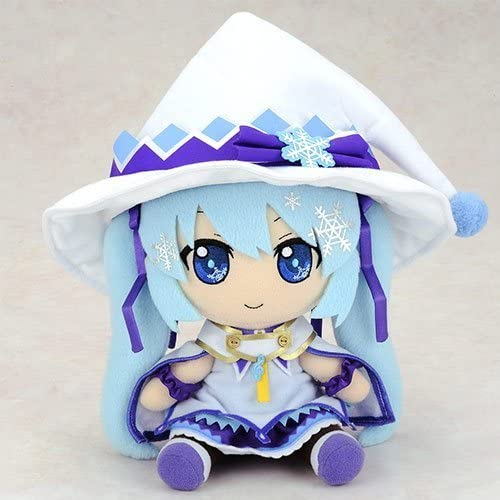 Gift Nendoroid Plushie Vocaloid Hatsune Miku Snow 2014 Magical Snow Ver. Stuffed toy
