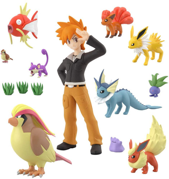 Bandai Pocket Monster Pokemon Green and Eevee 1/20 Scale World Kanto Set 2 - DREAM Playhouse