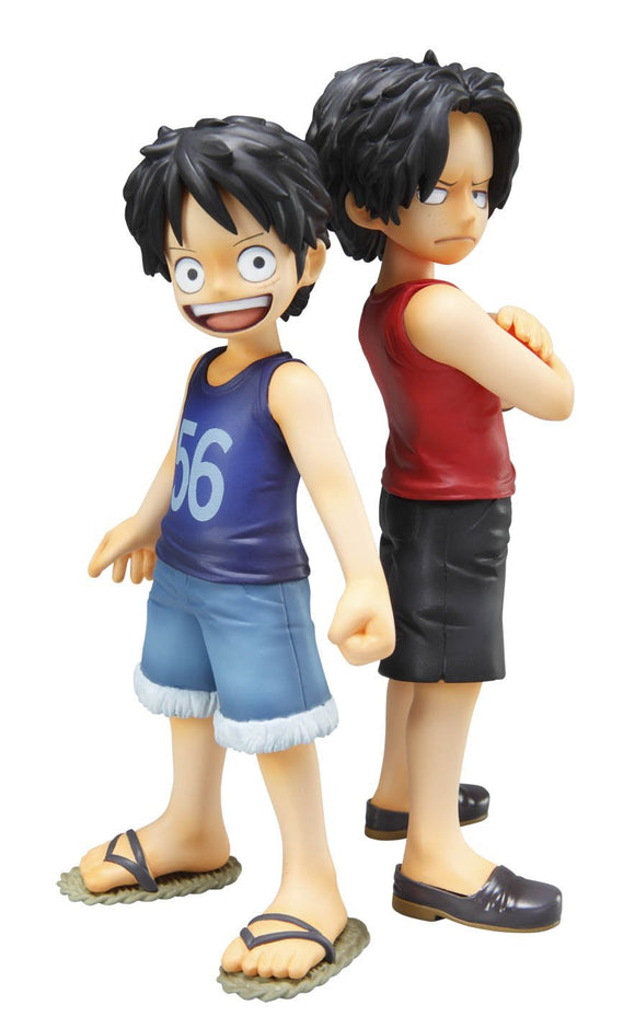Megahouse Excellent Model One Piece POP CB-EX Luffy & Ace Brotherly Bonds 1/8 PVC Figure
