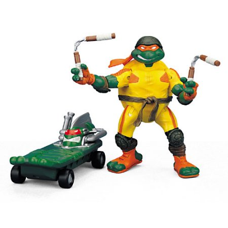Playmates Tmnt 2003 Teenage Mutant Ninja Turtles Thrashin Mike Michelangelo Action Figure - Action Figure
