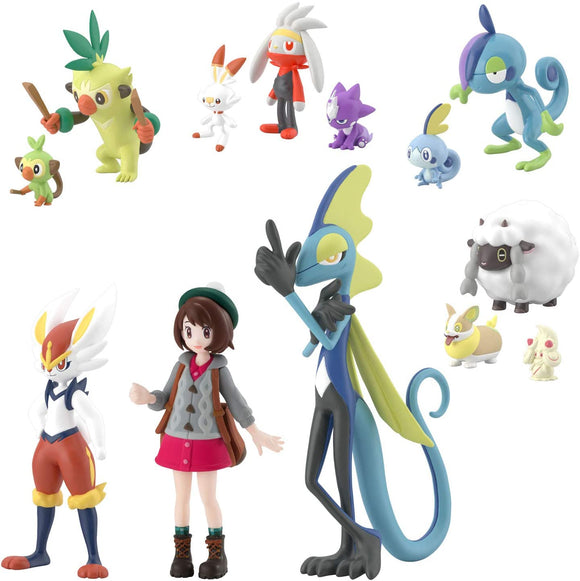Bandai Pocket Monster Pokemon Sword and Shield Gloria 1/20 Scale World Galar Set - DREAM Playhouse