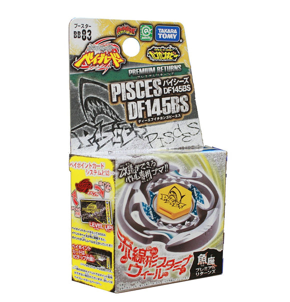 Takara Tomy 2010 Beyblade Metal Fight Fusion Bb-83 Pisces Df145Bs Booster Set - Misc