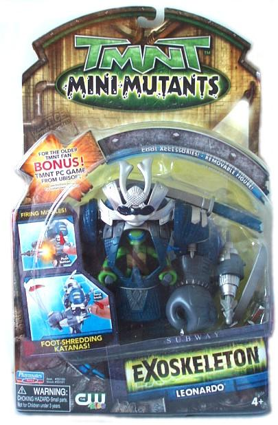 Playmates TMNT 2008 Teenage Mutant Ninja Turtles EXoskeleton Leo Leonardo Action Figure-DREAM Playhouse