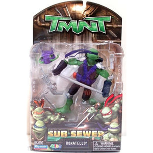 Playmates Tmnt Movie 2008 Teenage Mutant Ninja Turtles Sub Sewer Don Donatello Action Figure - Action Figure