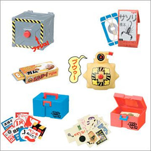 Takara TOMY Yujin Prank Lab Mischief Goods Research Institutes Part 1 (set of 6) - DREAM Playhouse