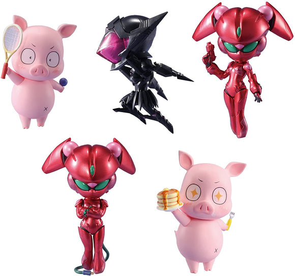Chara-ani Toys Works Collection 2.5 Little Accel World Black collection set of 5
