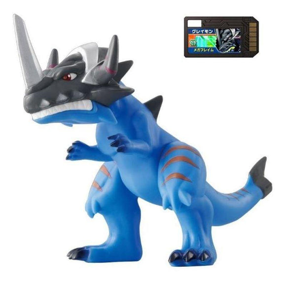 Bandai Digimon Digital Monsters Xros Wars 04 Greymon Vinyl Figure (Digi Memory Card Included) - Vinyl