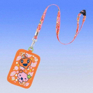 Bandai Tamagotchi Business Card Carrying Case (Orange With Memetchi & Violetchi) - Misc