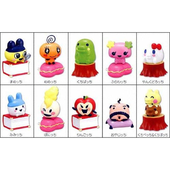 Bandai Tamagotchi Character Dolls On Pedestals Trading Figure Part 2 (Set Of 10) - Trading